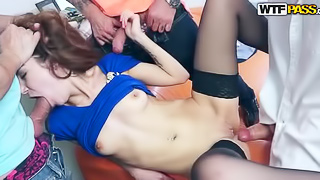 Gangbang scenes with foreign students