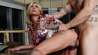 Pamela Balian calls up a male stripper to entertain her for the...