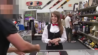 Card dealer cashes in that pussy!