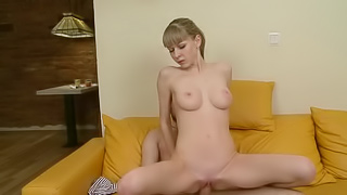 This sweet cutie has amazing skinny body and big natural tits! She...