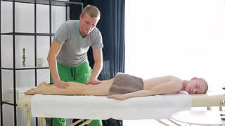Oil massage with deep orgasm